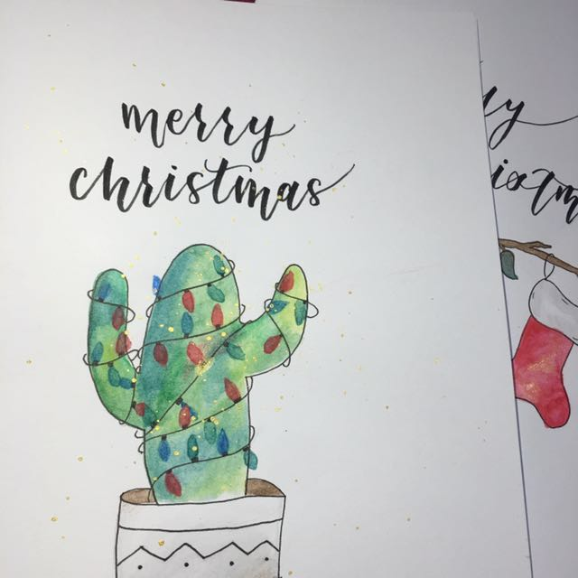 Birthday Christmas Cards Design Craft Handmade On
