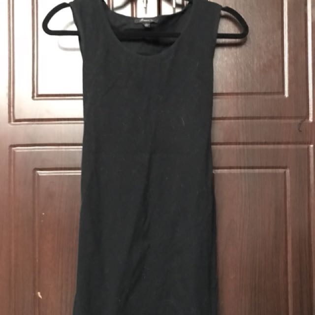 Black Back Peak Dress
