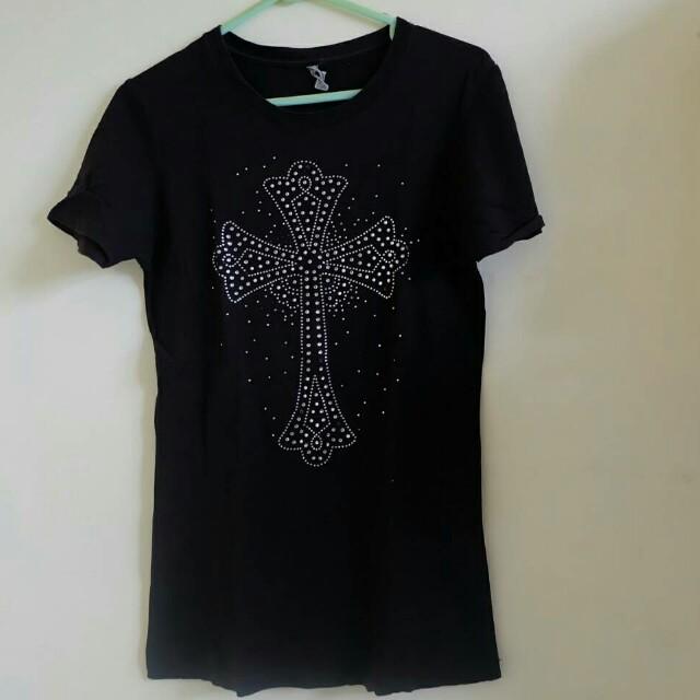 Black Cross Top