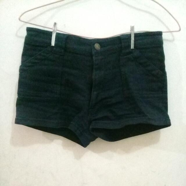 Black Jeans Shortpants