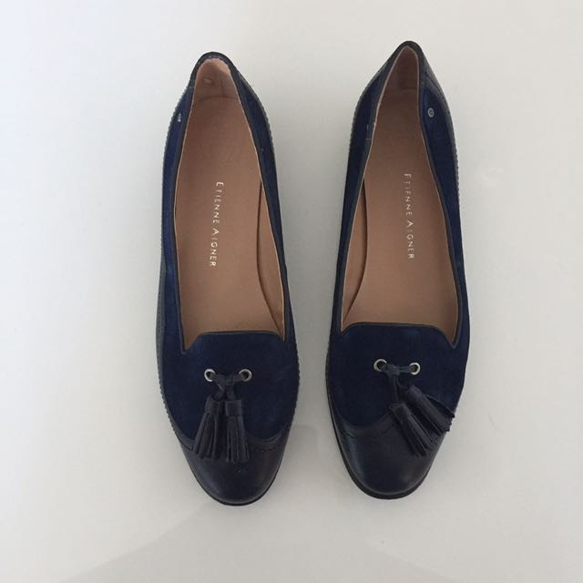 Blue Suede Loafers Size 9