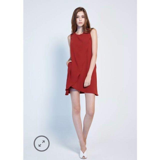 027193653f24 BNWT Lovengold Kacey Shift Dress in Rust (Size S), Women's Fashion ...
