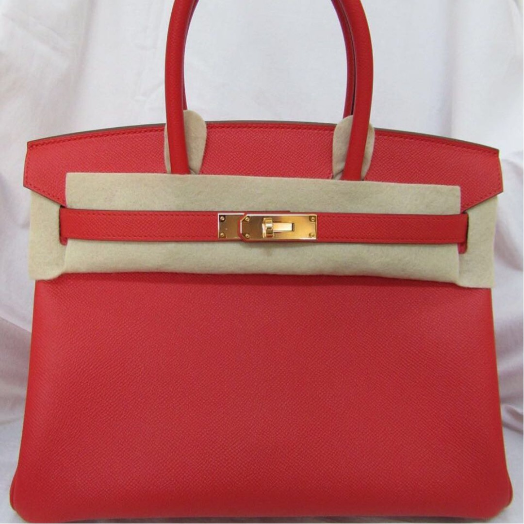 53ebeba24dd8 ... usa brand new hermes birkin 30 red tomatoes epsom with ghw stamp a  luxury bags wallets