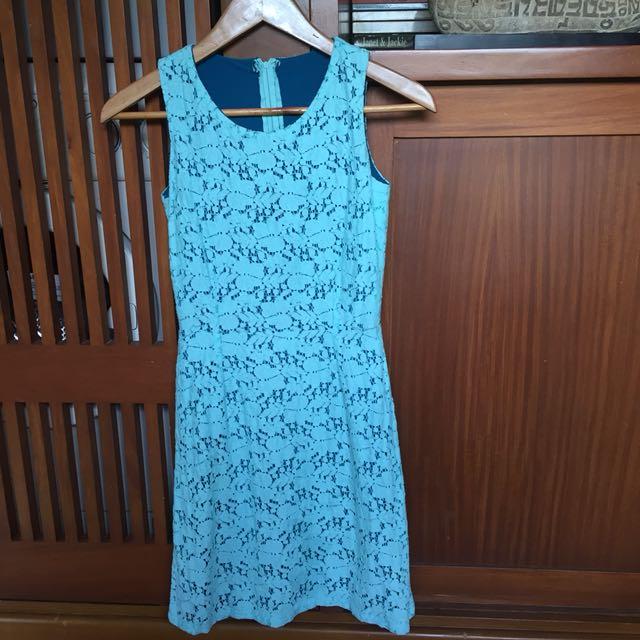 Bubblegum Blue Lace Dress