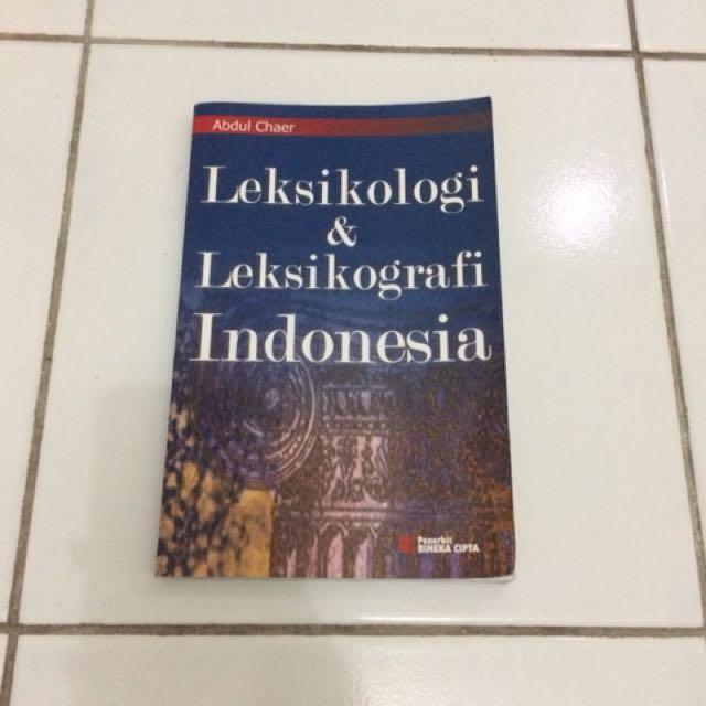 Buku leksikologi