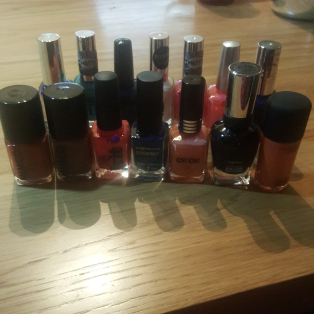Bulk nail polish assorted brands & colours