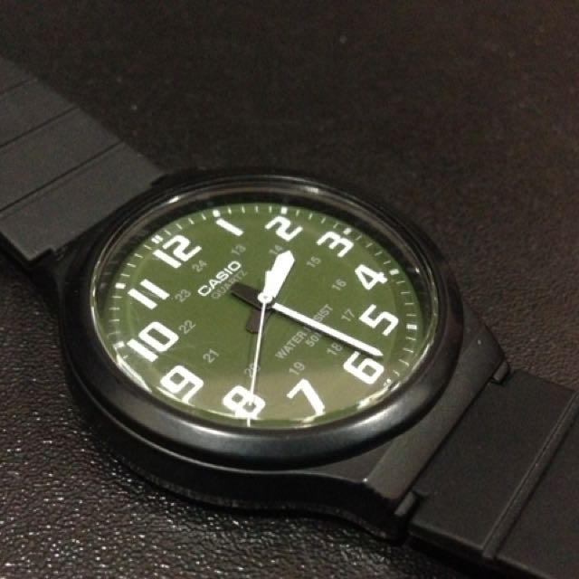 Casio Green Dial Military Style Quartz Watch