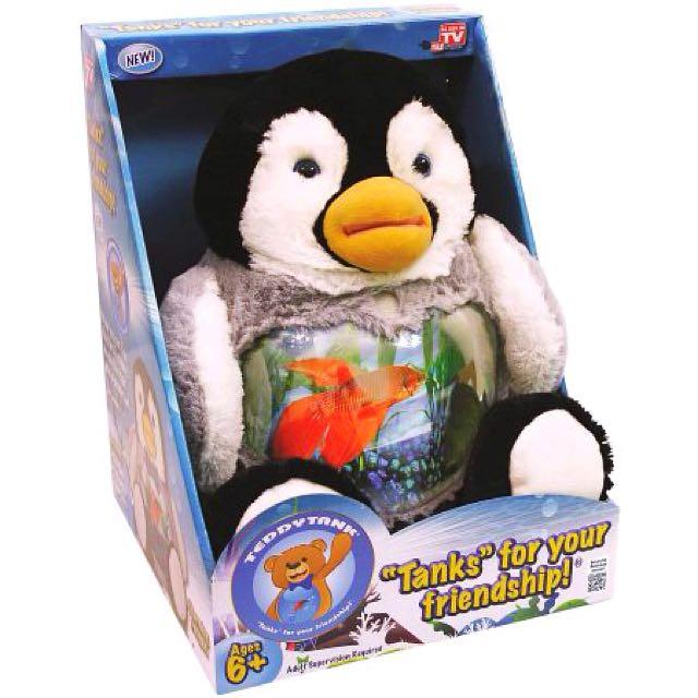 Charming Penguin Cuddly Teddy Tank Fish Bowl