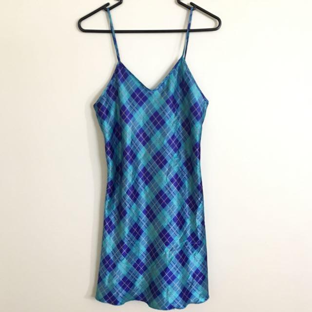 Checkered Slip Dress