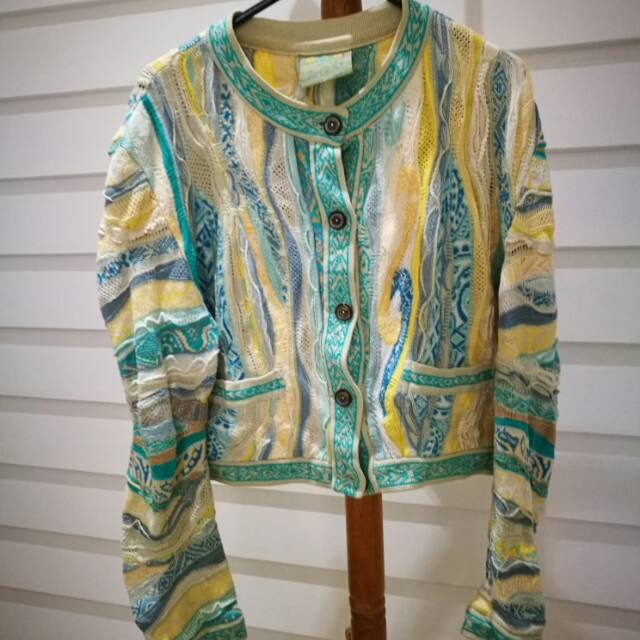 Coogi blue cardigan vintage cosby sweater