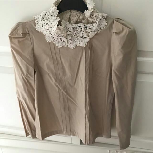 Creme lace shirt