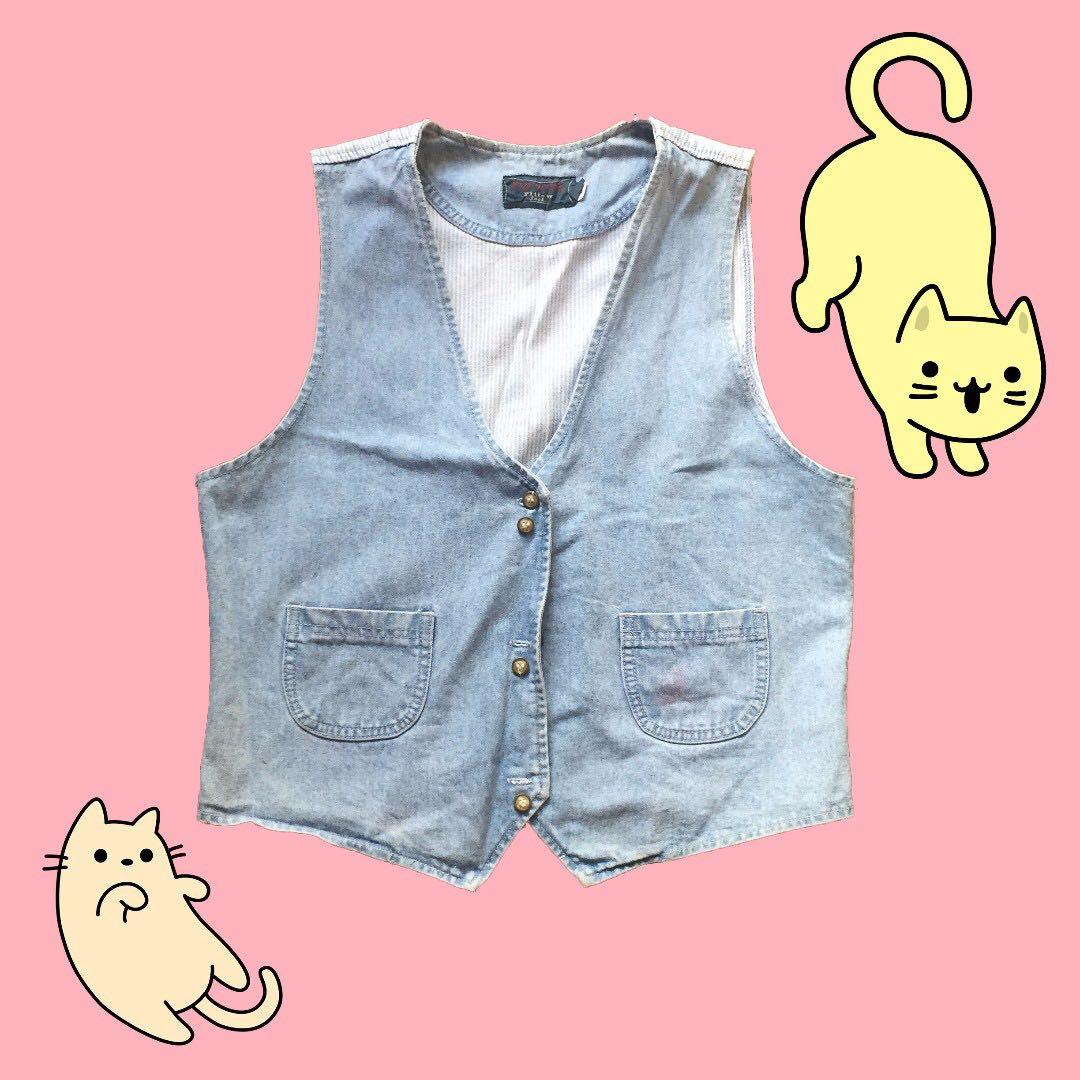 🎄Denim Retro Vest