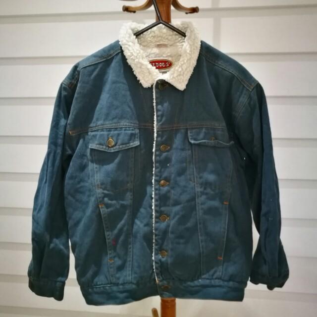 Denim sherpa style vintage jacket