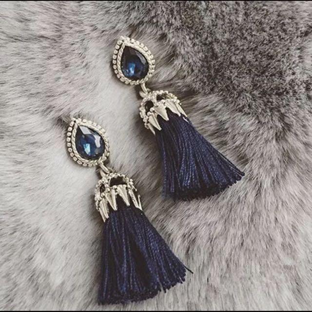 Diamond Tassel Elegant Diamond Earrings Fashion Trend nt Pandora ... 7fb2a56d7e6