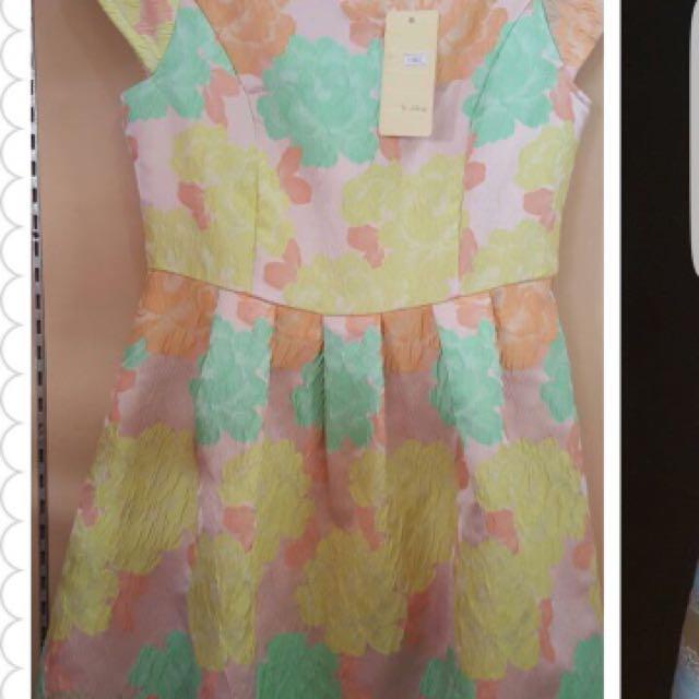 Dress bahan jaquard import