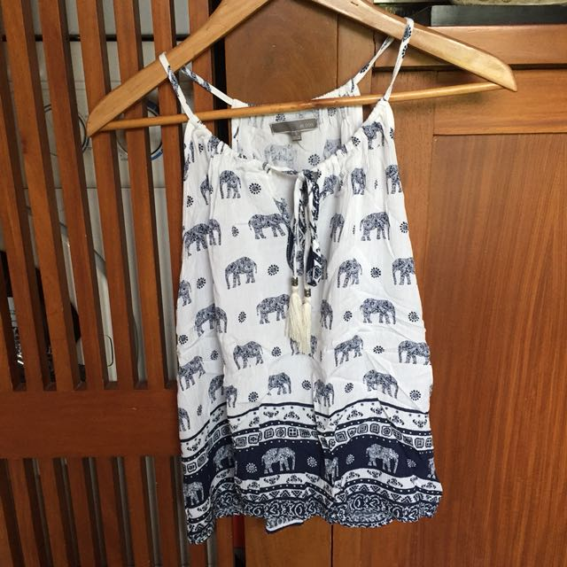 Elephant Print Halter Top