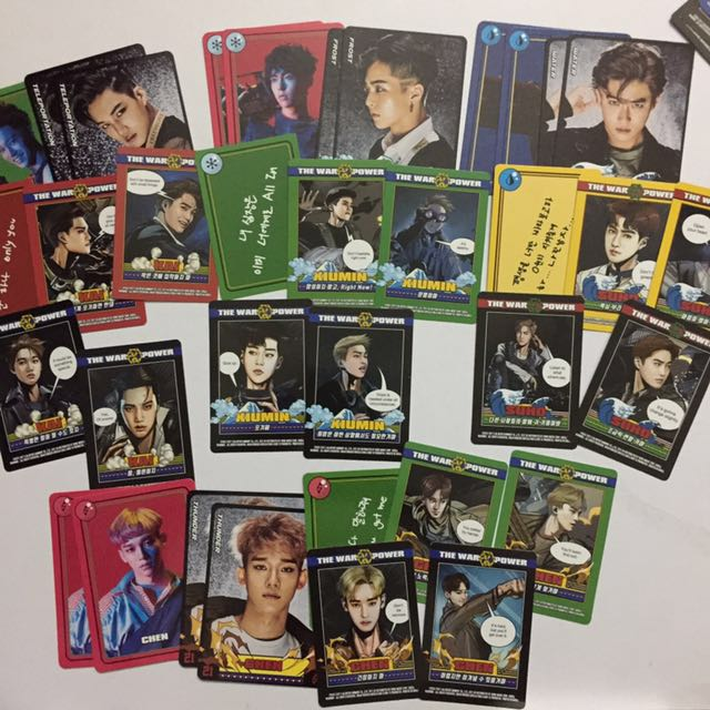 EXO Power Merchandise Matching Card and Solution Card