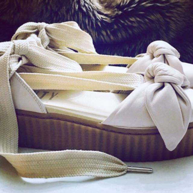 Fenty Bow Creepers, Puma for Rhianna.  Slip on with Wrap Lacing. Size 6.5.