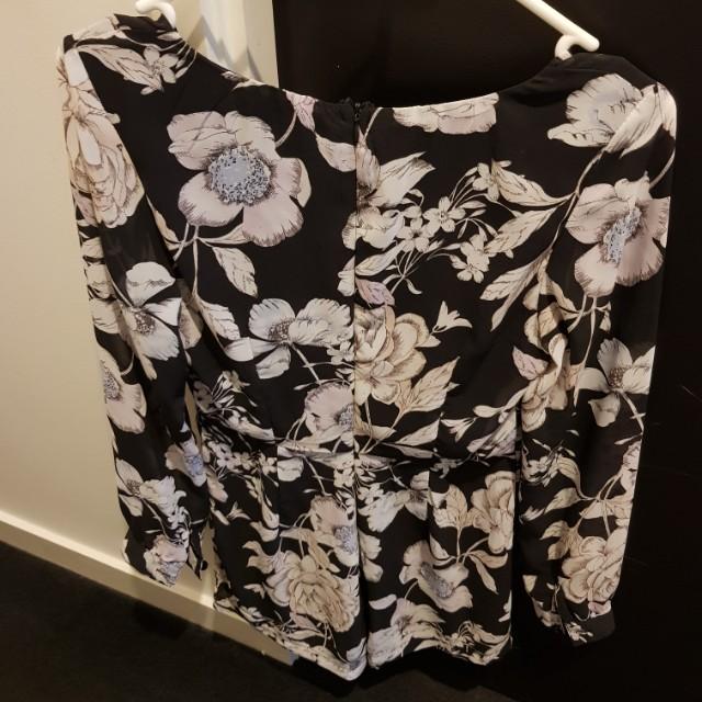Flower Playsuit size 8