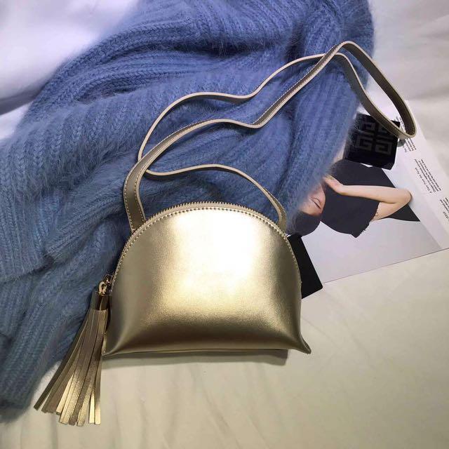 Forever 21 Gold Sling Bag