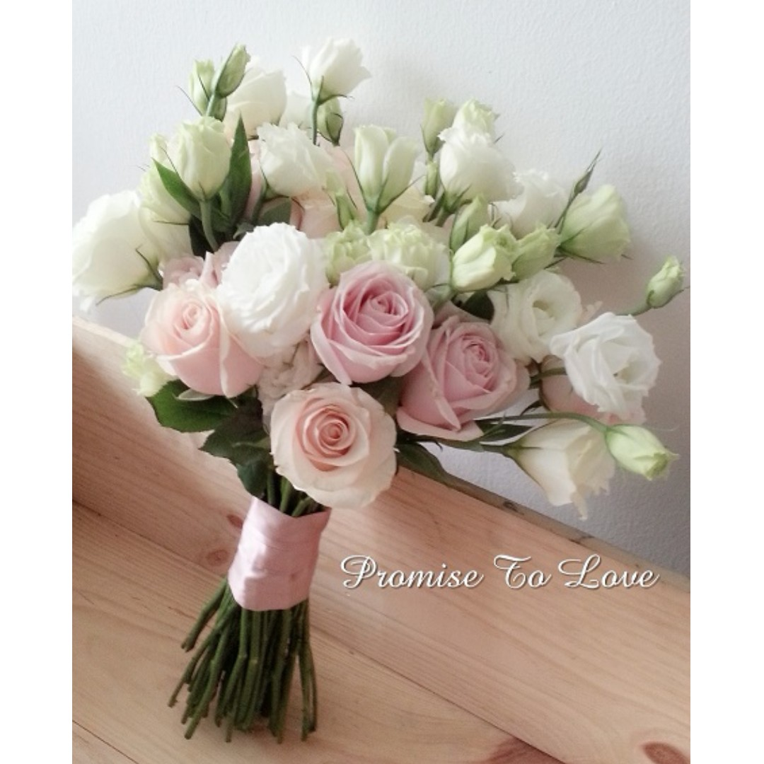 Fresh Flowers In Pastel Romance Hand Bouquet (Wedding