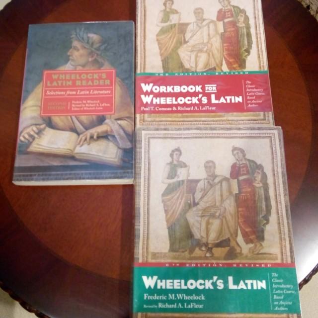 Full set of Wheelock's Latin(textbook, workbook and reader)
