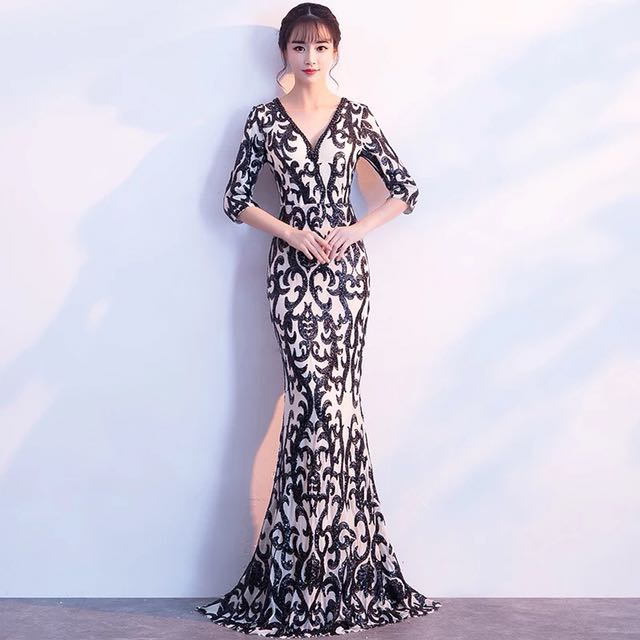 ded0d6fad249 FREE DELIVERY - Gaia patterned evening gown