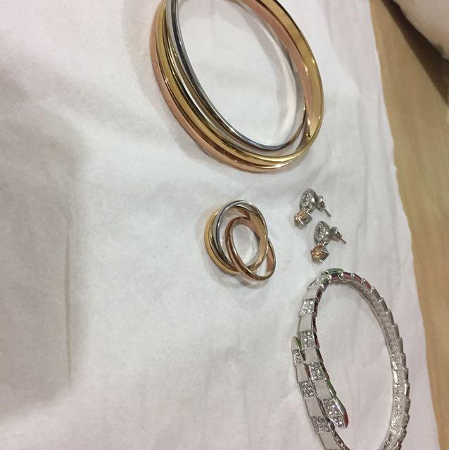 Gelang dan cincin silver/perak bagus