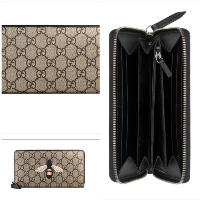 d22c925c174 Gently used long wallet Gucci bee