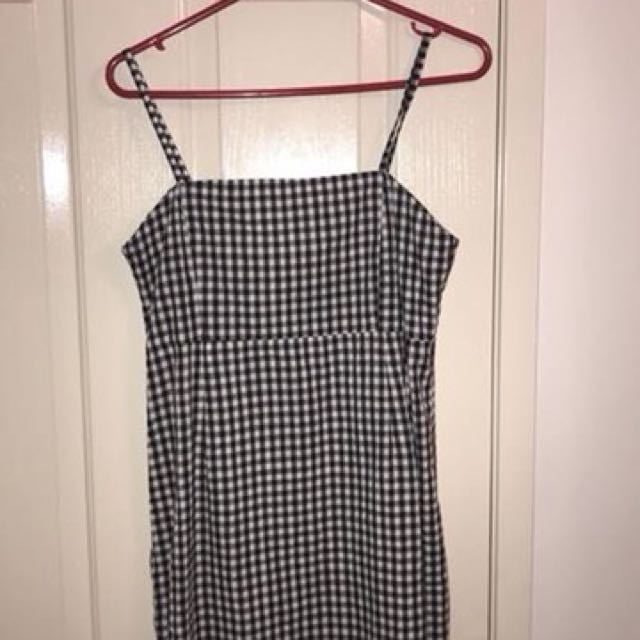 Gingham mini dress (L)
