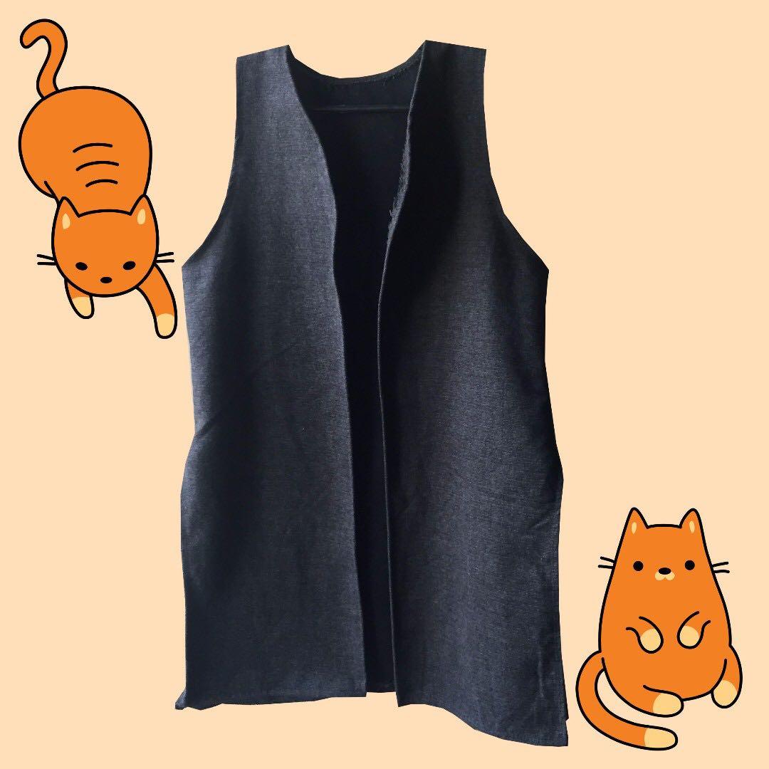 🎄Gray long vest