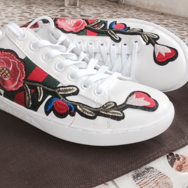 GUCCI Ace Embroidered Low-Top Sneaker Men And Women 35-43