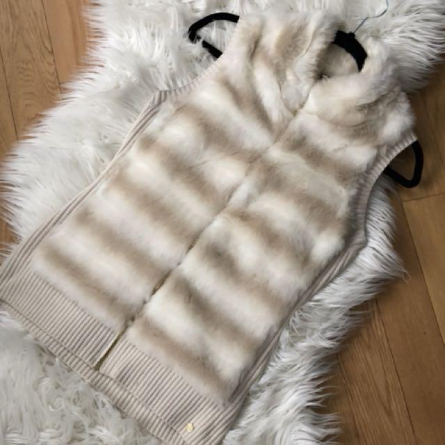 Guess fur vest