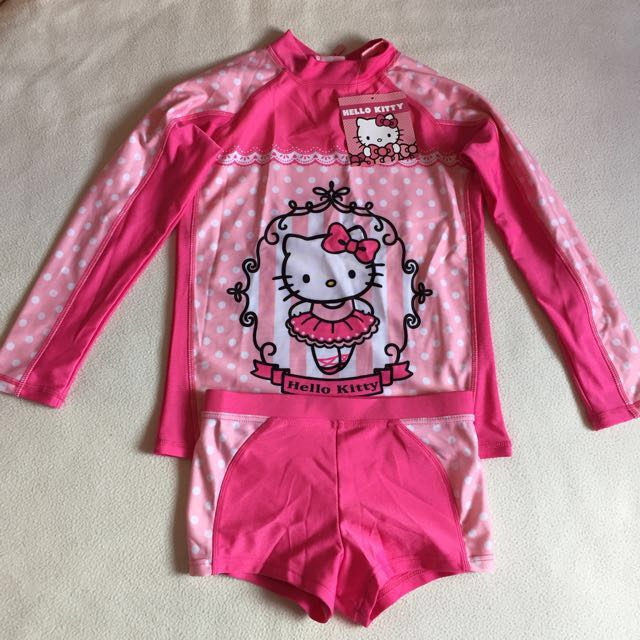 🆕Hello Kitty Swimwear for Girl Size L(8-10yrs Old) New with Tag