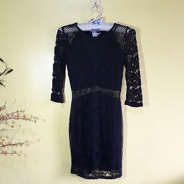 H&M HQ lace bodycon dress