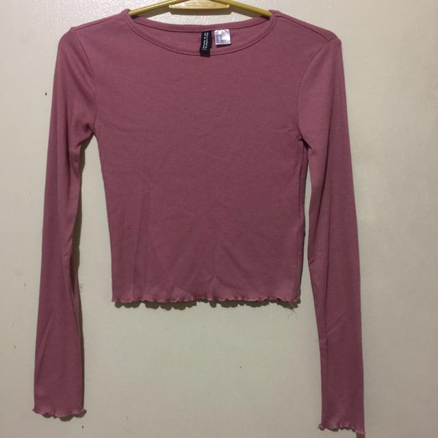 H&M OLD ROSE CROP TOP / NOT SWEATER