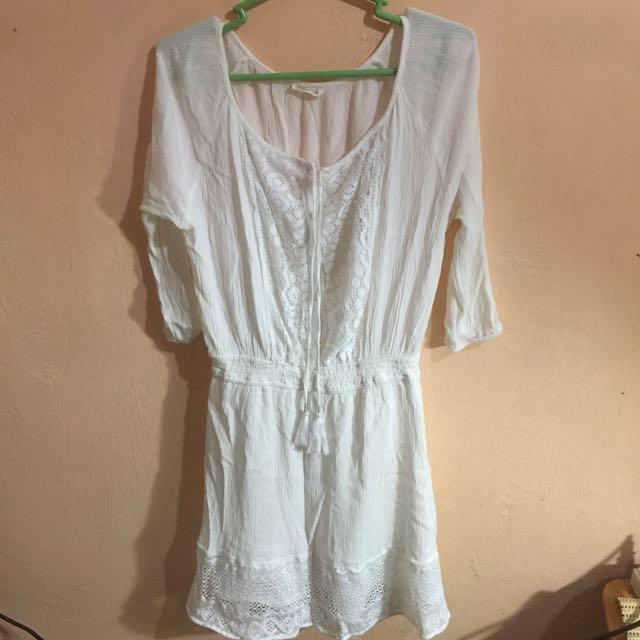 Hollister Lace Boho White Dress