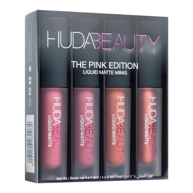 Huda Beauty Pink Edition Liquid Matte Minis