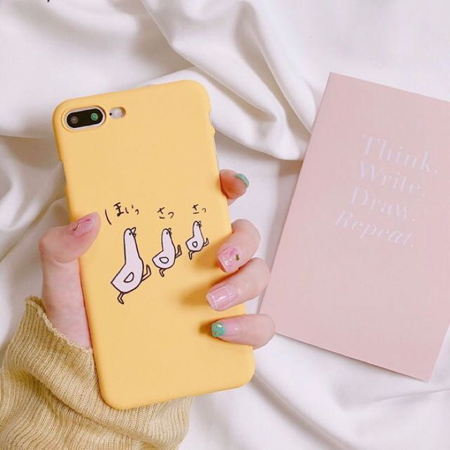 802dc45255 iPhone 7/8 plus Korean Yellow Phone Case, Mobile Phones & Tablets, Mobile &  Tablet Accessories on Carousell