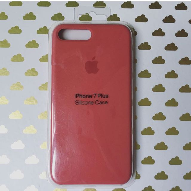 check out 1b60e b68f7 iPhone 7/8 PLUS Silicone Case: ROSE RED on Carousell