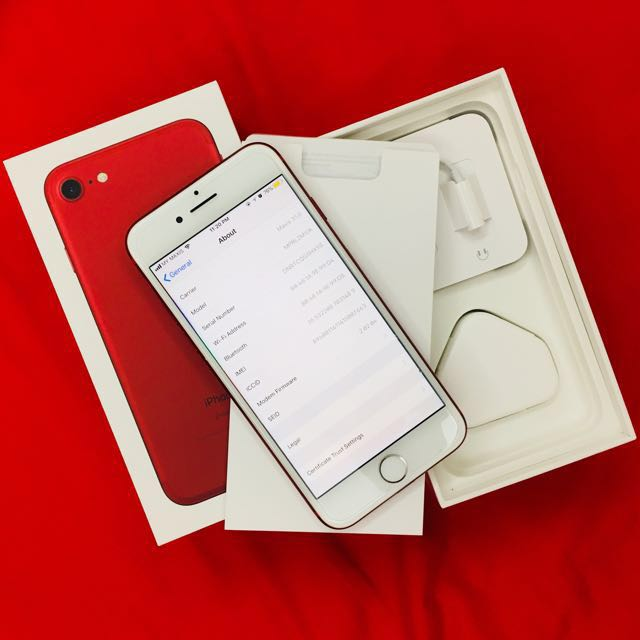iPhone 7 limited RED 128GB with warranty