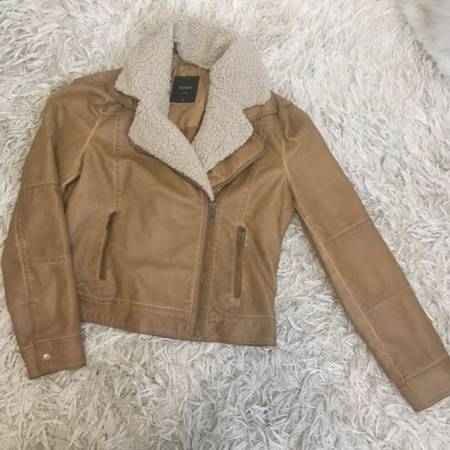 Jeanswest Faux Leather Jacket Size 10