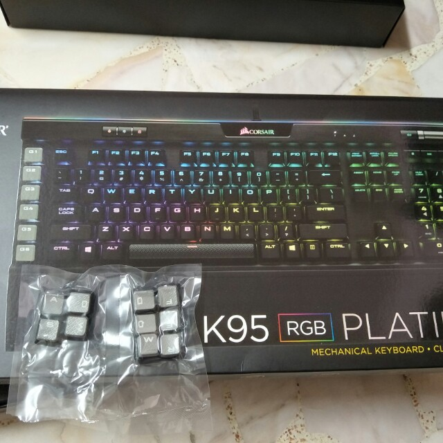 K95 RGB Platinum Cherry Mx Brown