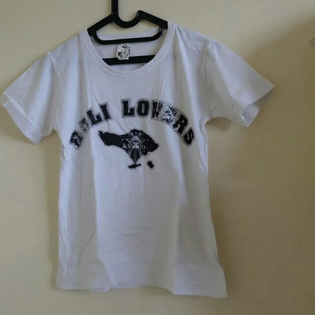Kaos Bali / kaos putih