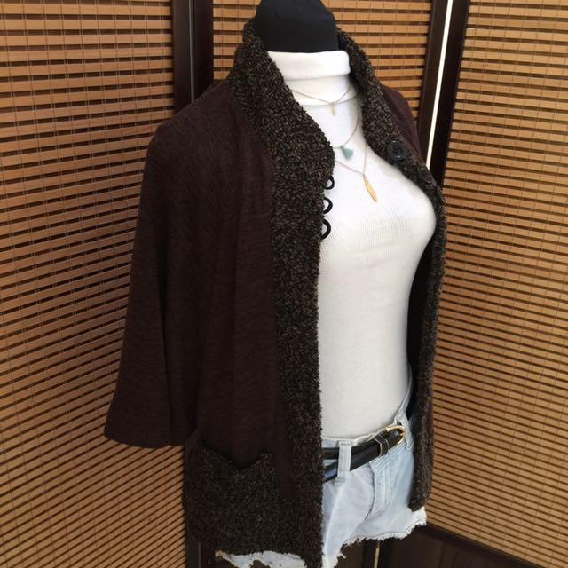 Knit lightweight jacket/ winter jacket