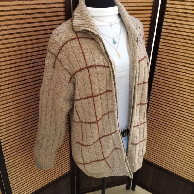 Knit winter jacket