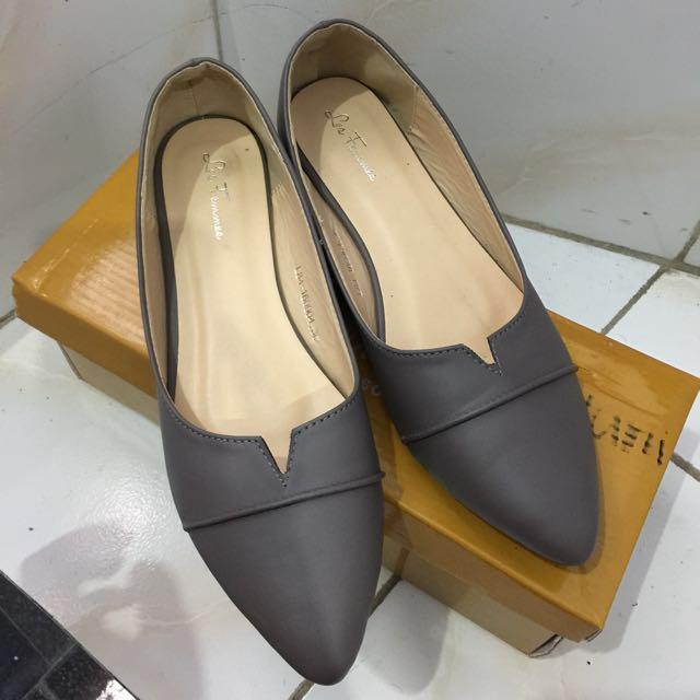 Les femmes Flatshoes Grey