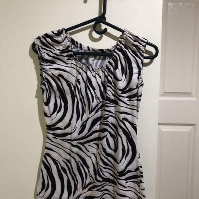 Loft zebra printed blouse