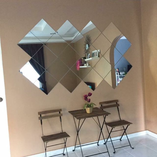 lots mirror from ikea cermin empat segi home furniture