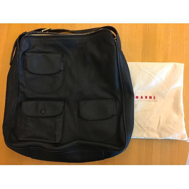 MARNI  Black Leather Bag New 2015法國購入